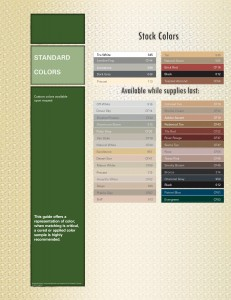Color Pack Color Chart
